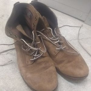 Timberland ortholite brown boots sz 8 ladies